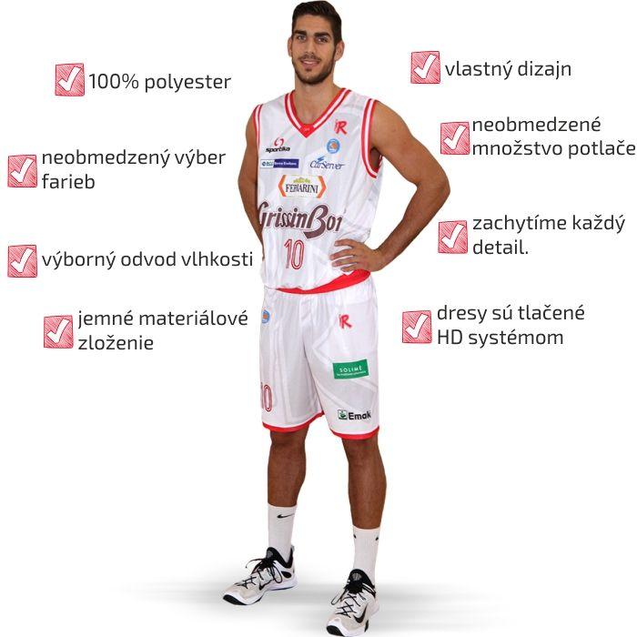 Basketbalové HD dresy značky SPORTIKA tej najvyššej kvality.