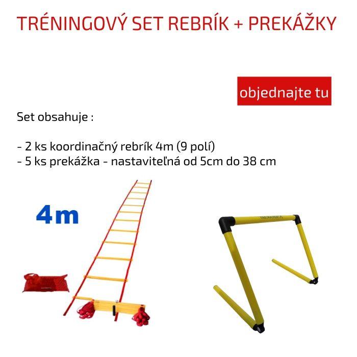Jednoduchý a lacný tréningový set nielen pre futbalistov.