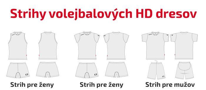 Volejbalové strihy HD dresov značky SPORTIKA.